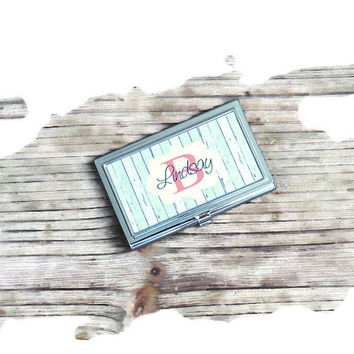 business card holder, personalized business card holder, bosses gift, first job gift, monogrammed gift, personalized gift, fathers day