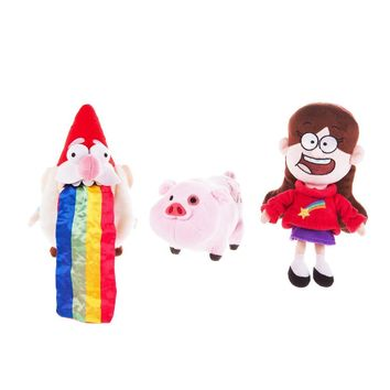 """Gravity Falls Waddles Pig Mabel Barfing Gnome Plush Doll Kids Toy 8"""" with Tag 3pcs"""