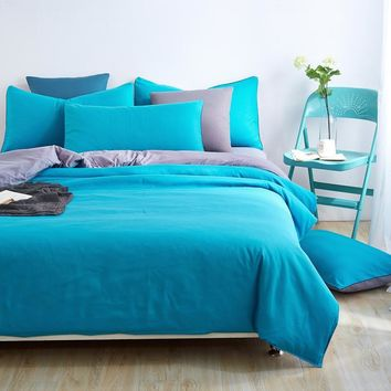 Autumn And Winter Home Bedding Sets Soft Sea blue Duver Cover Bed Sheet Pillowcase Duvet cover King Queen Full 4pcs Twin 3pcs