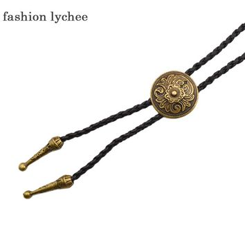... Rodeo Western Cowboy Bola Tie Necktie Necklace intl Source fashion lychee Retro Round Shape Indian Shield