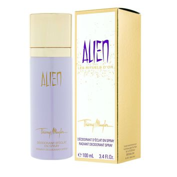 Alien for Women by Thierry Mugler Les Rituels D'Or Radiant Deodorant Spray 3.4 oz