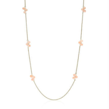 36 Inch Beaded Station Necklace