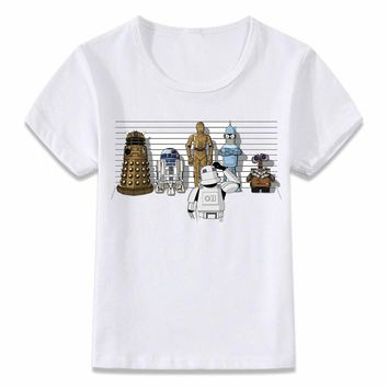 Star Wars Force Episode 1 2 3 4 5 Kids Clothes T Shirt Bad Robot R2d2  Lineup Children T-shirt for Boys and Girls Toddler Shirts Tee AT_72_6