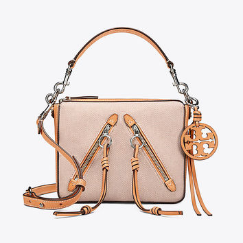 Tory Burch Moto Medium Canvas Bag