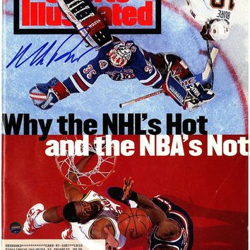 Mike Richter Signed with Patrick Ewing 6/20/94 Sports Illustrated Magazine