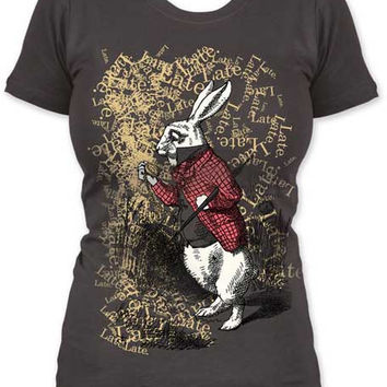 Alice In Wonderland White Rabbit Late T-Shirt