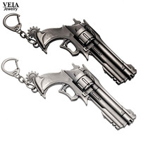 Overwatch Keychain Game Tracer Reaper OW McCree Weapon Gun Revolver Pendant Punk Keychain Chaveiros Llavero For Car
