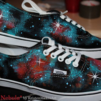 Galaxy Shoes  Vans or Toms  Made to Order by KristenMakesArt