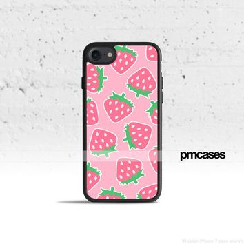 Pink Strawberry Phone Case Cover for Apple iPhone iPod Samsung Galaxy S & Note