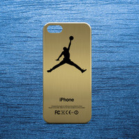 Gold Air Jordan Basketball Logo Case for all phone device