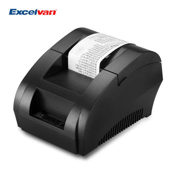 Excelvan 58mm Thermal Dot Receipt Printer Portable mini USB POS Label Receipt Thermal Printer with Cash Drawer Port 5890K EU