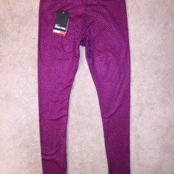 Nike Pro Hyper Warm Compression Thermal Tight Pants Leggings Pink 685125 NWT!
