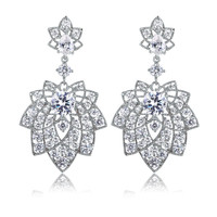 Stylish Floral Style Luxury Earrings [4918340036]