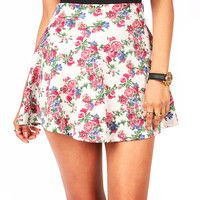 Rosey Skater Skirt | Floral Skirts at Pink Ice