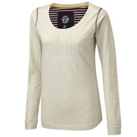 PINTUCK LADIES LONG SLEEVED T-SHIRT OATMEAL - Outdoor Clothing, Waterproof jackets and fleeces -TOG24