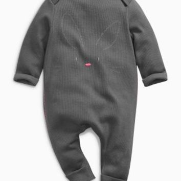 Buy Charcoal Bunny Romper (0mths-2yrs) from the Next UK online shop