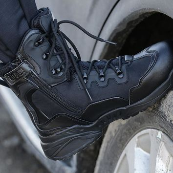 Outdoor Sports Camping Hiking Men's shoes Mountain Military Tactical Boot Mens Hiking Boots Non-slip Breathable Chaussure Chasse