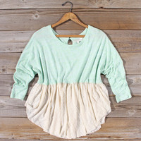 Gentry Lace Tunic in Mint