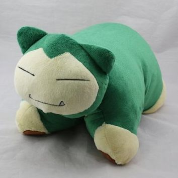 "Cuddlee Pet Pokemon Snorlax 17"" Soft Plush Doll Cute Cushion Transforming Pillow"