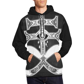 Men Hoodie Satanic Cross Demon