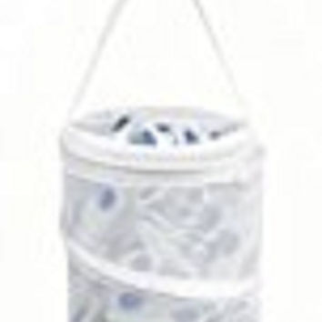 "Whitmor 6233-1258 White Mesh Pop & Fold Clothespin Bag, 7"" x 9.25"""