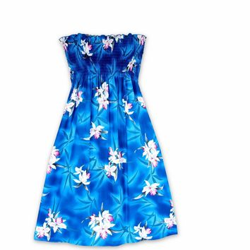 Poipu Blue Moonkiss Hawaiian Dress