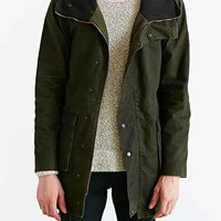 B:SCOTT Wax-Coated Cowl Parka- Olive