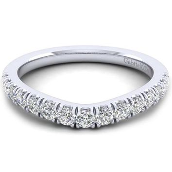 "Gabriel ""Hazel"" Curved Diamond Wedding Ring"