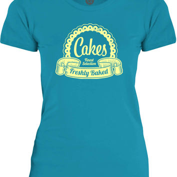 Big Texas Finest Selection Cakes (Yellow) Womens Fine Jersey T-Shirt