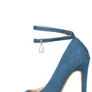 Love Lock Pump (Denim)- FINAL SALE