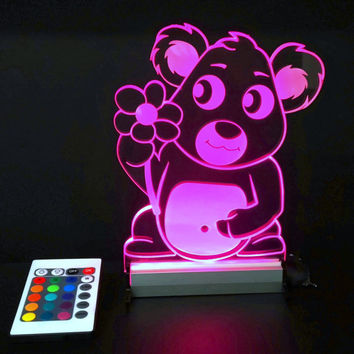 Multi color fun lamp Kids Baby Art Night Light lamp, bedroom decor for baby