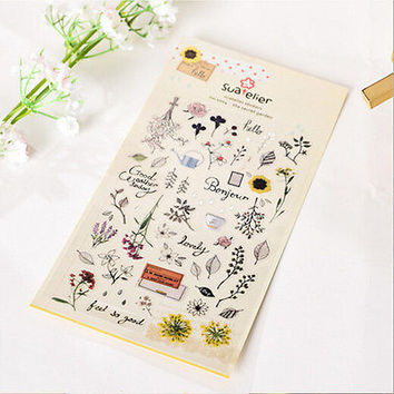 1 Sheet Stationery Deco Scrapbooking Planners Notes Stickers Office Supplies HU
