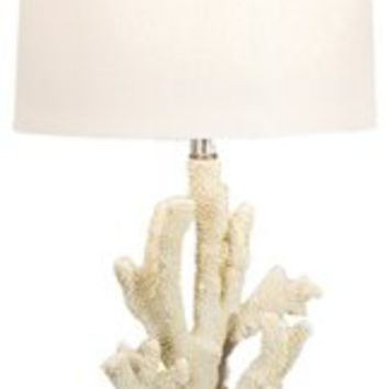 Table Lamp, White Coral Lamp, Crystal Base, Table Lamps