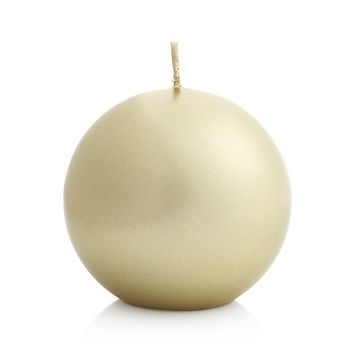 Matte Gold Ball Candle