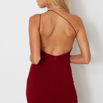 Sexy Shoulder Flap Backless  Party Dress