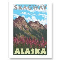 Fireweed & Mountains - Skagway, Alaska Post Cards
