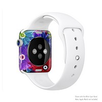 The Boldly Colored Flowers Full-Body Skin Set for the Apple Watch