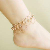 Ladies Sexy Stylish Gift Jewelry Cute Shiny New Arrival Bells Hot Sale Bohemia Tassels Anklet [11066524948]