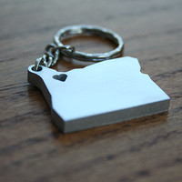 Oregon Lovin' - Metal Keychain