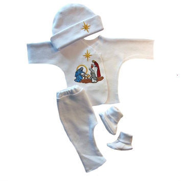 Baby Boys' Christmas Nativity Clothing Set