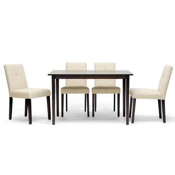 5 Piece Cosy Dining Table Chair Set