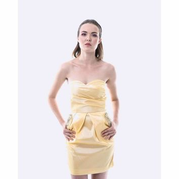 Jewel Pocket Dress - Yellow