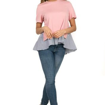 Curvy Ruffle Layered Top