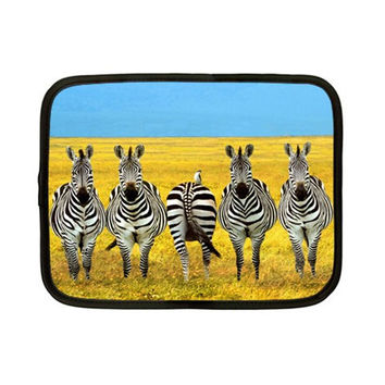 Zebras In Field Wild Animals Netbook Case (Small)