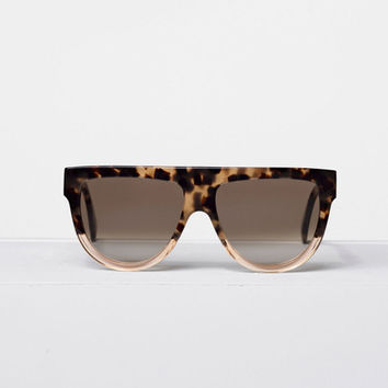 Celine - Shadow Havana Honey & Transparent Peach Acetate Sunglasses, Brown Shaded Lenses