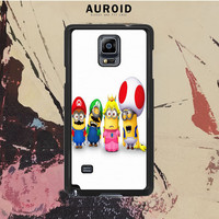 Despicable Me Minions Mario Samsung Galaxy Note 4 Case Auroid