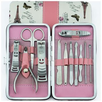 12 in 1 Manicure ket Nail Clipper Kit Nail Care Set