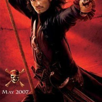 Pirates Of The Caribbean Orlando Bloom movie poster Sign 8in x 12in