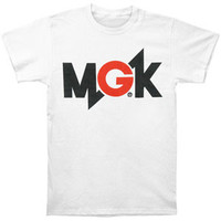 Machine Gun Kelly (Music) Men's  MGK Logo T-shirt White Rockabilia