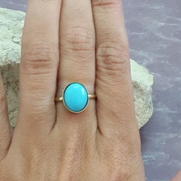 SALE! Cocktail Ring, Turquoise ring,Statement Ring,December birthstone ring,Bezel Set Ring, Birthstone Ring,Gold ring